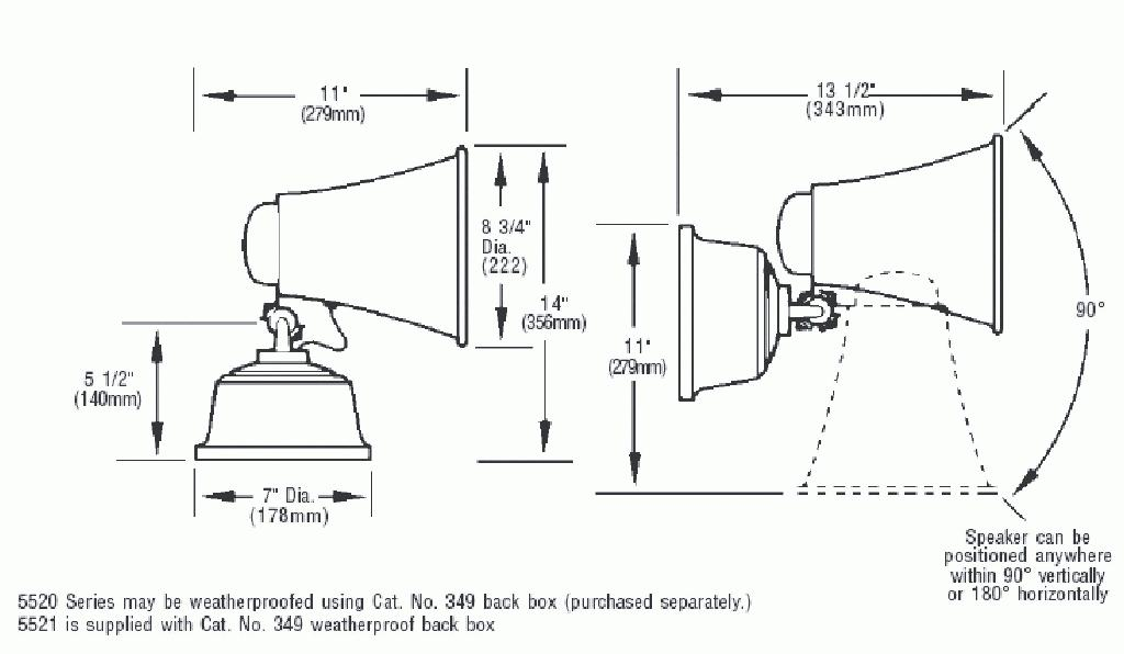 Edwards Signaling - 5520 / 5521 Series Duotronic Horns and Sirens